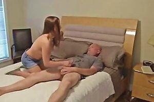 Teenager Having Sex With Her Dad Creampie